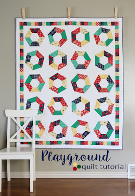 Playground quilt tutorial from Andy of A Bright Corner