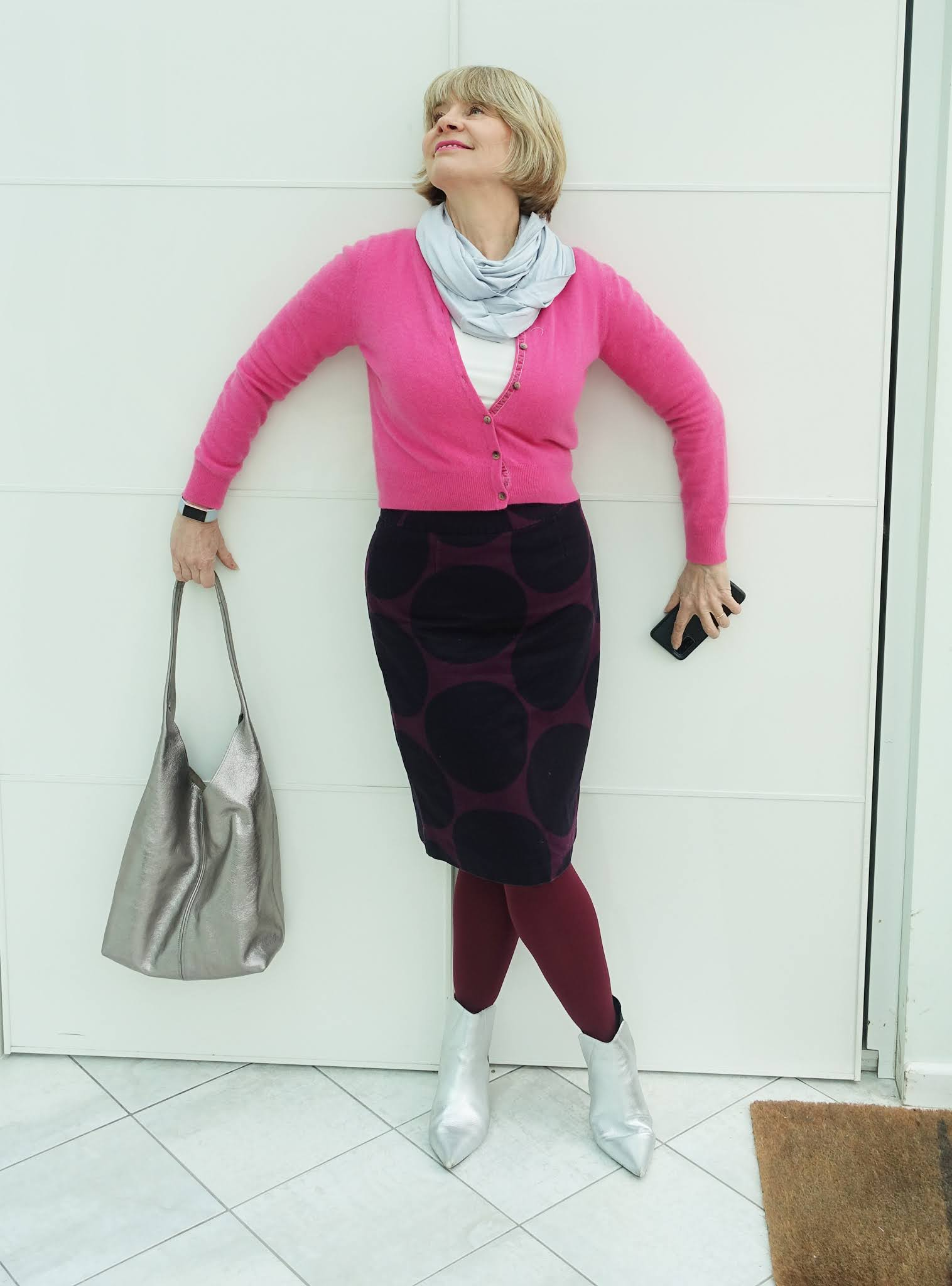 Gail Hanlon from Is This Mutton is reunited with an old Boden patterned knee length skirt and styles it two ways