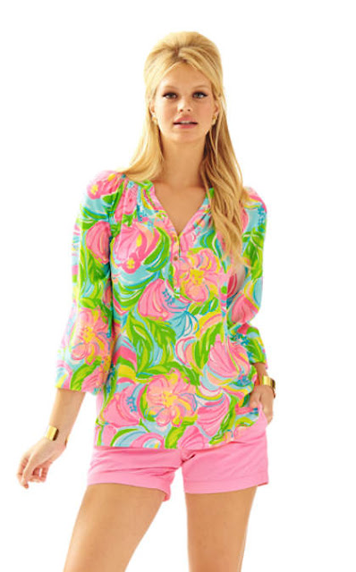 lilly pulitzer elsa top multi so a peeling lunch at lilly gift with purchase