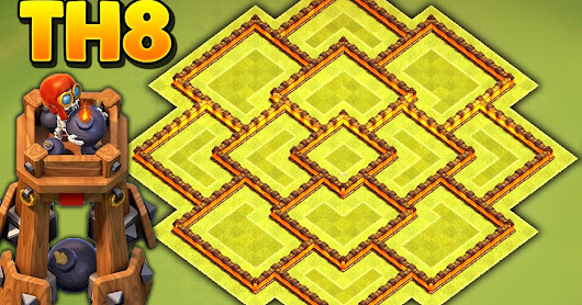 Base Terbaik Town Hall 8 Update Bomb Tower Clash Of Clans 2017
