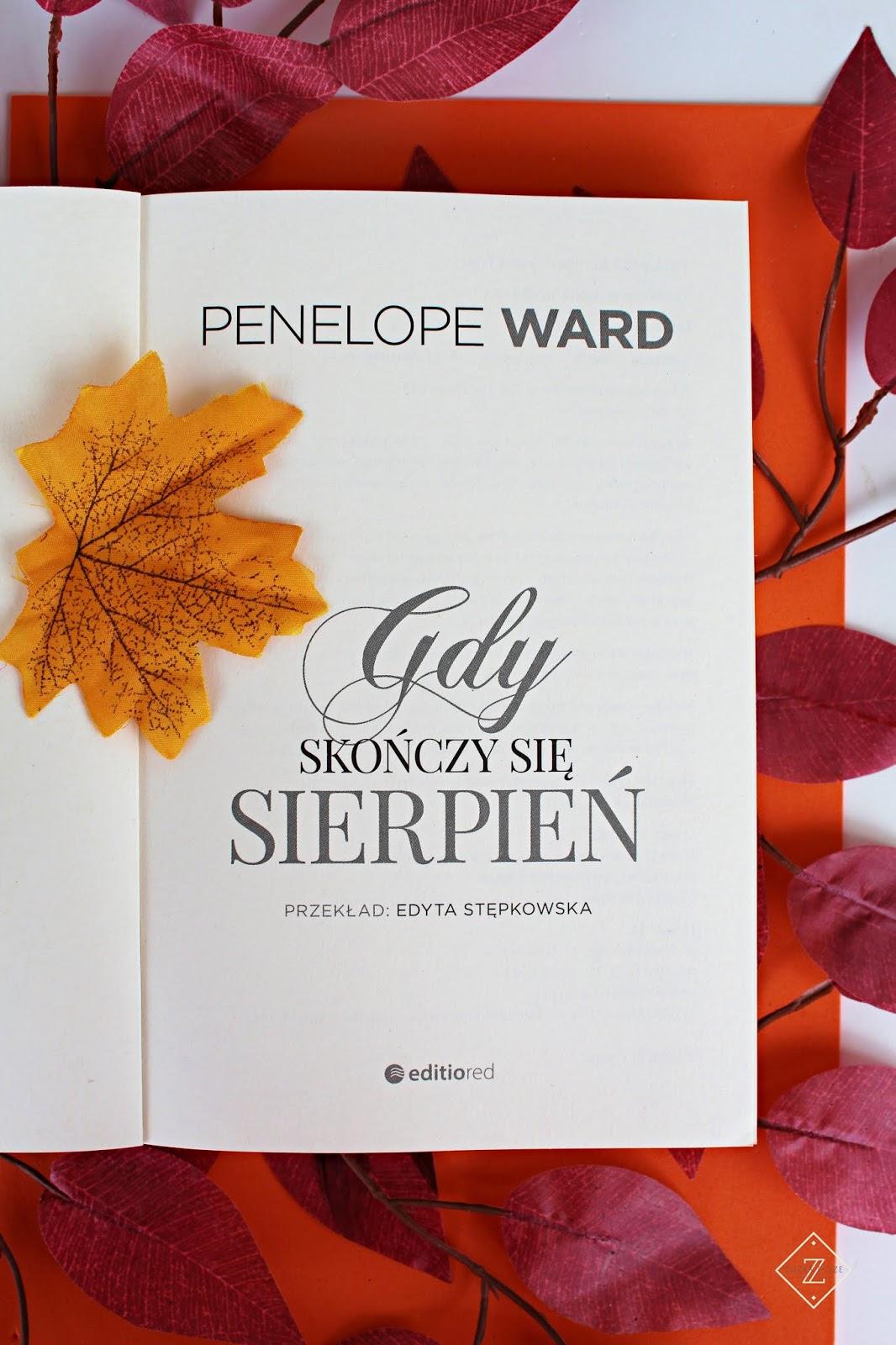 """Penelope Ward """"Gdy skończy się sierpień"""" - recenzja"""