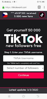 Tiktokwant.com | tiktok wanted .com  | Cara Untuk dapatkan 50000 Followers gratis Tiktok