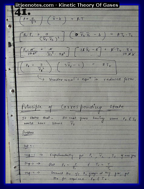 Kinetic Theory Of Gases Notes IITJEE11