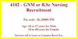 GNM B.Sc Nursing Jobs in Bihar Government