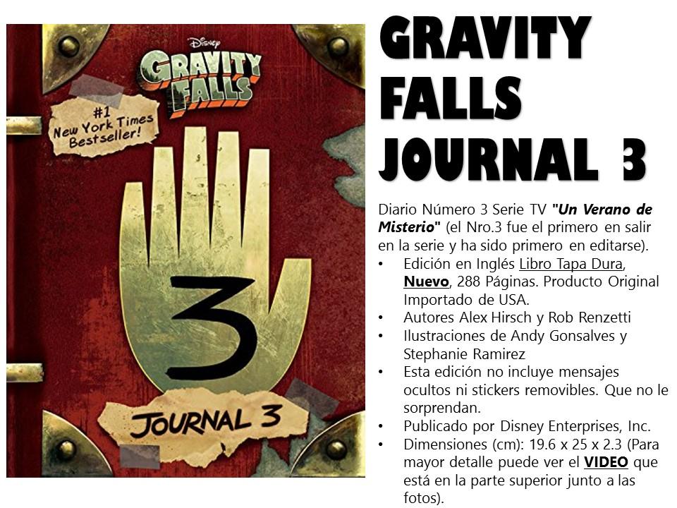 diario gravity falls journal 3 original disney amazing book     100 00 en mercado libre