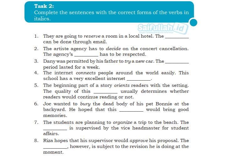 Kunci Jawaban Chapter 6 Task 2 Hal 90-91 Bahasa Inggris Kelas 10