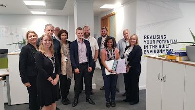 Online education team celebrating my award