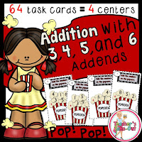 Addition using 3, 4, 5, and 6 Addends