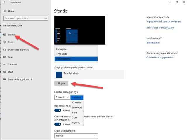 personalizzazione-sfondo-windows