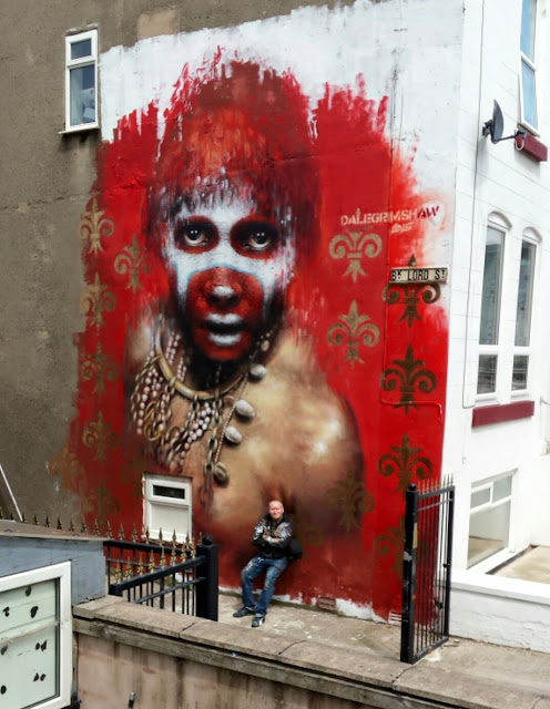 While we last heard from him in London a few weeks ago, Dale Grimshaw was last week in Blackpool for the 2015's edition of the Sand, Sea & Spray mural festival.
