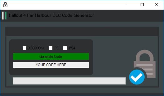 Vidichi Generators: Fallout 4 Far Harbor DLC Code Generator