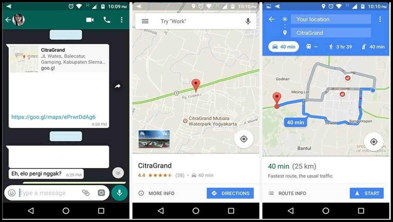 cara membuka share location