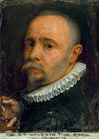 Self-Portrait (c.1589) of Simone Peterzano, who was the mentor of Michelangelo Merisi da Caravaggio