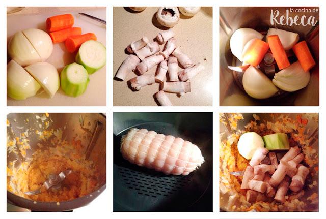Receta de roti (redondo) de pollo con salsa de cerveza y verduras 01