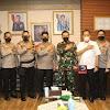 Silaturahmi Perdana Pangdam XIV/Hasanuddin Di Terima   Kapolda Sulsel