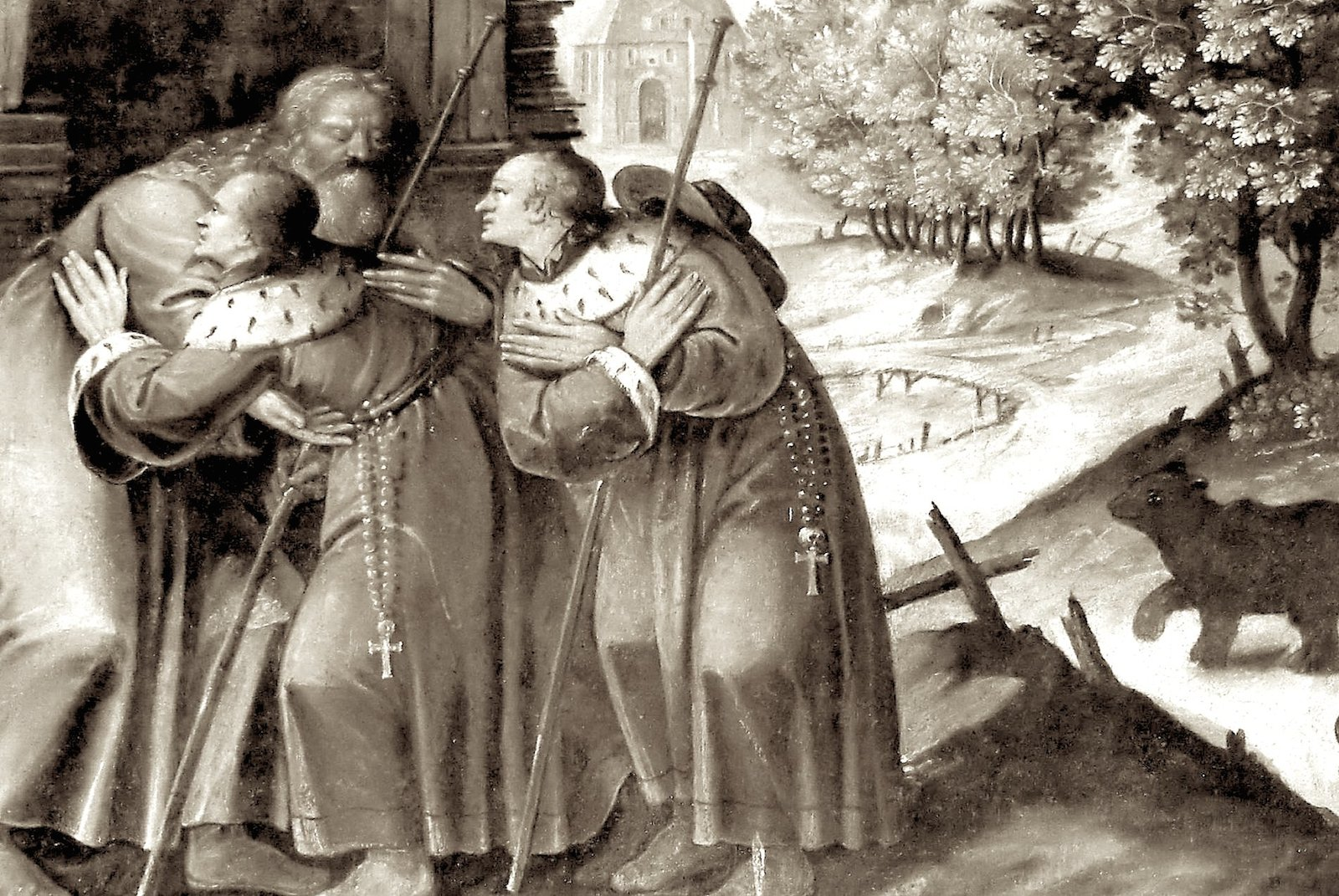 Cыновья приходят к своему святому отцу..