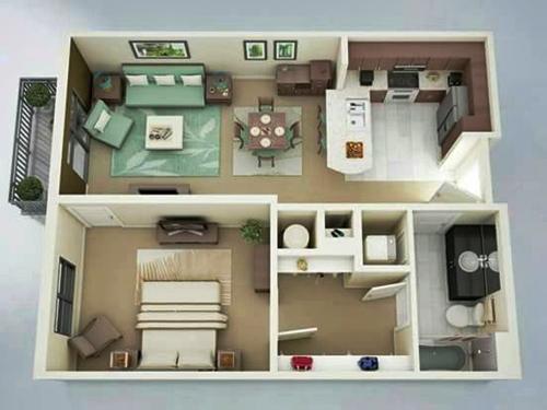 Desain 3D Interior Rumah Type 36 yang Keren