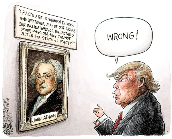 Portrait of John Adams with quotation: