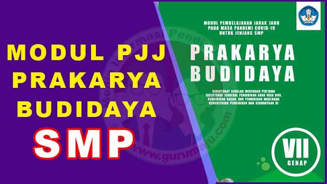 Download Modul PJJ Prakarya Budidaya Kelas 7 SMP