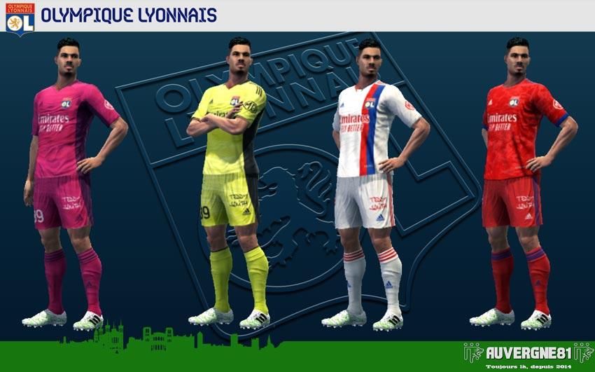 Kits Olympique Lyonnais 2021-2022 For PES 2013