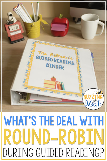 Why don't we use round robin in guided reading anymore? There are a few reasons that teachers continue to use this practice, and a few reasons that we shouldn't. Read about what guided reading looks like without round robin, how to implement this best practice, and how to make it effective for all of your kids, whether they're in kindergarten or upper elementary! #guidedreading #bestpractice
