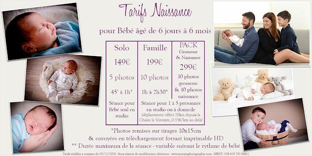 tarif séance photos bébé photographe vendée 85 la roche sur yon