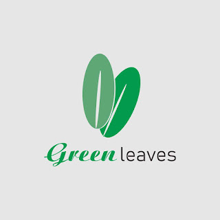 Two Leaves Icon Flat Logo Template Free Download Vector CDR, AI, EPS and PNG Formats