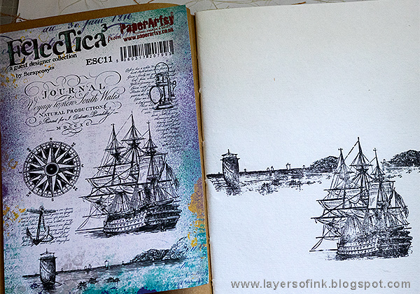 Layers of ink - Dramatic Seascape Journal Tutorial by Anna-Karin Evaldsson with Paper Artsy Eclectica