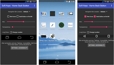 Aplikasi Soft Keys - Home Back Button