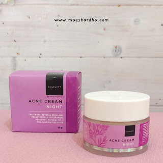 scarlett acne night cream