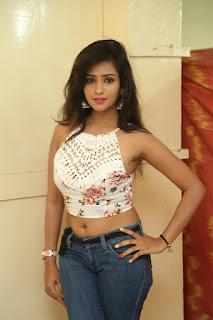 Deekshita Parvathi in a short crop top and Denim Jeans Spicy Pics Beautiful Actress Deekshita Parvathi January 2017 CelebxNext (13).JPG