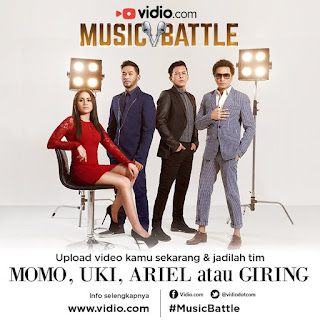 Cara mendaftar di Video.com Music Battle with Ariel, Uki, Giring dan Momo