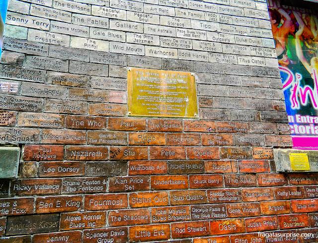 Muro da Fama do Cavern Club, Liverpool
