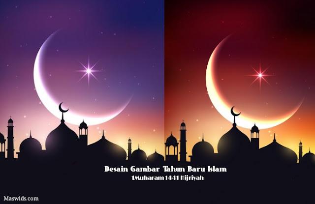 desain gambar ucapan selamat tahun baru islam