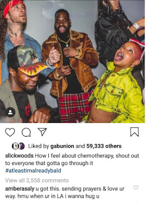 Slick Woods laments about her cancer status