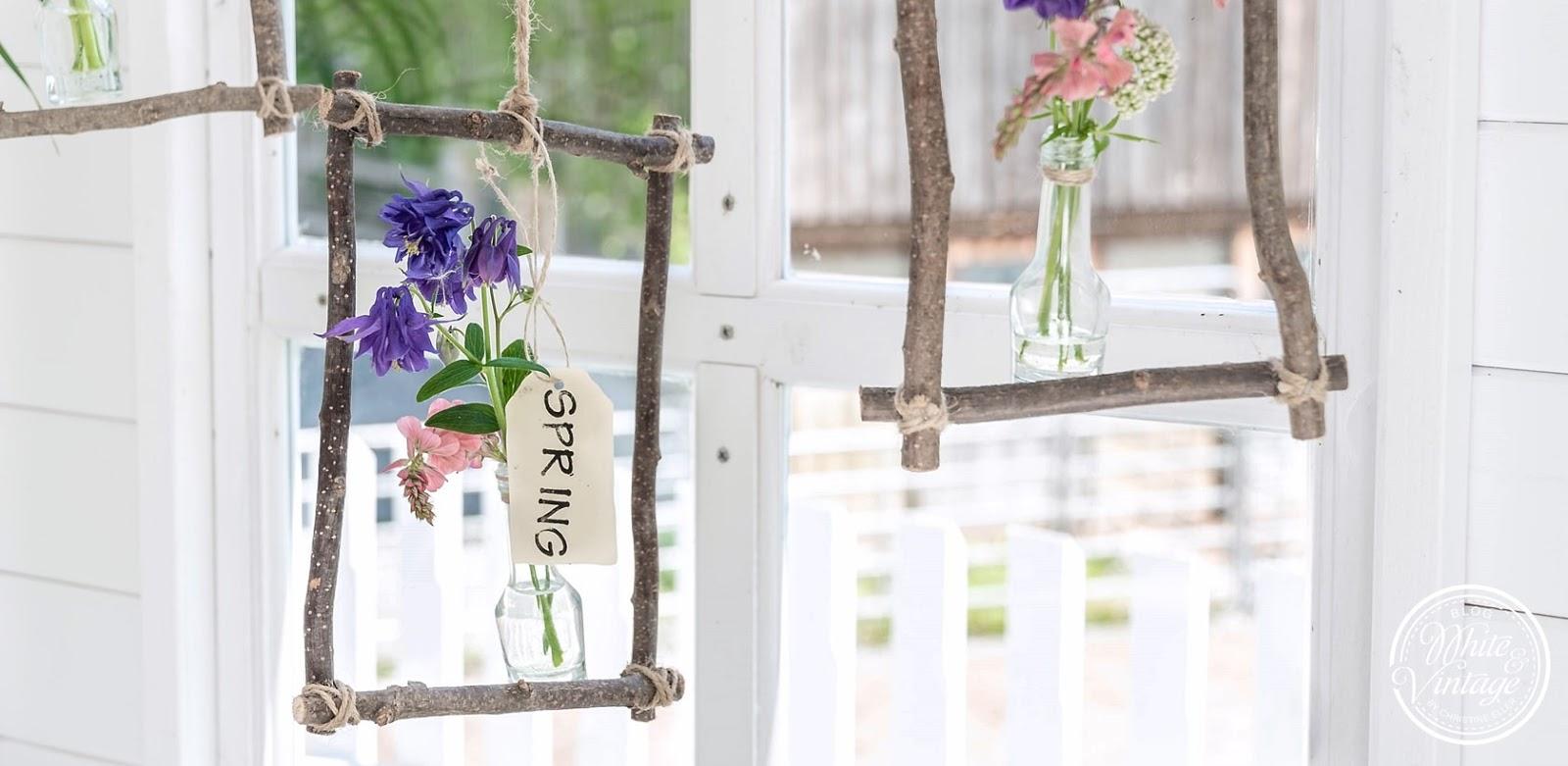 Fensterdeko für den Frühling basteln.