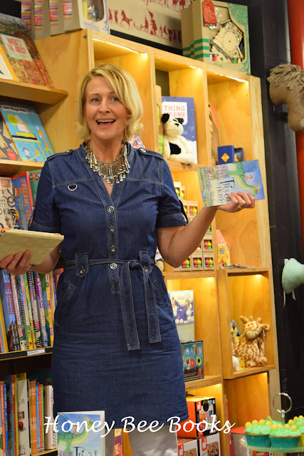 Author Tania McCartney at the book launch of Cate Whittle's new book, Trouble At Home