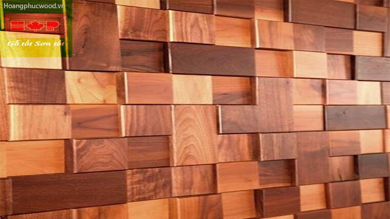 ốp vách lót sàn gỗ Teak