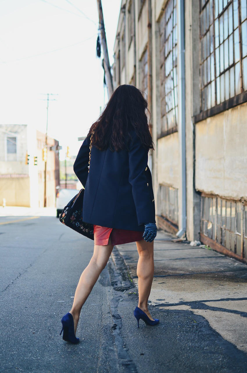 Navy shoes street style