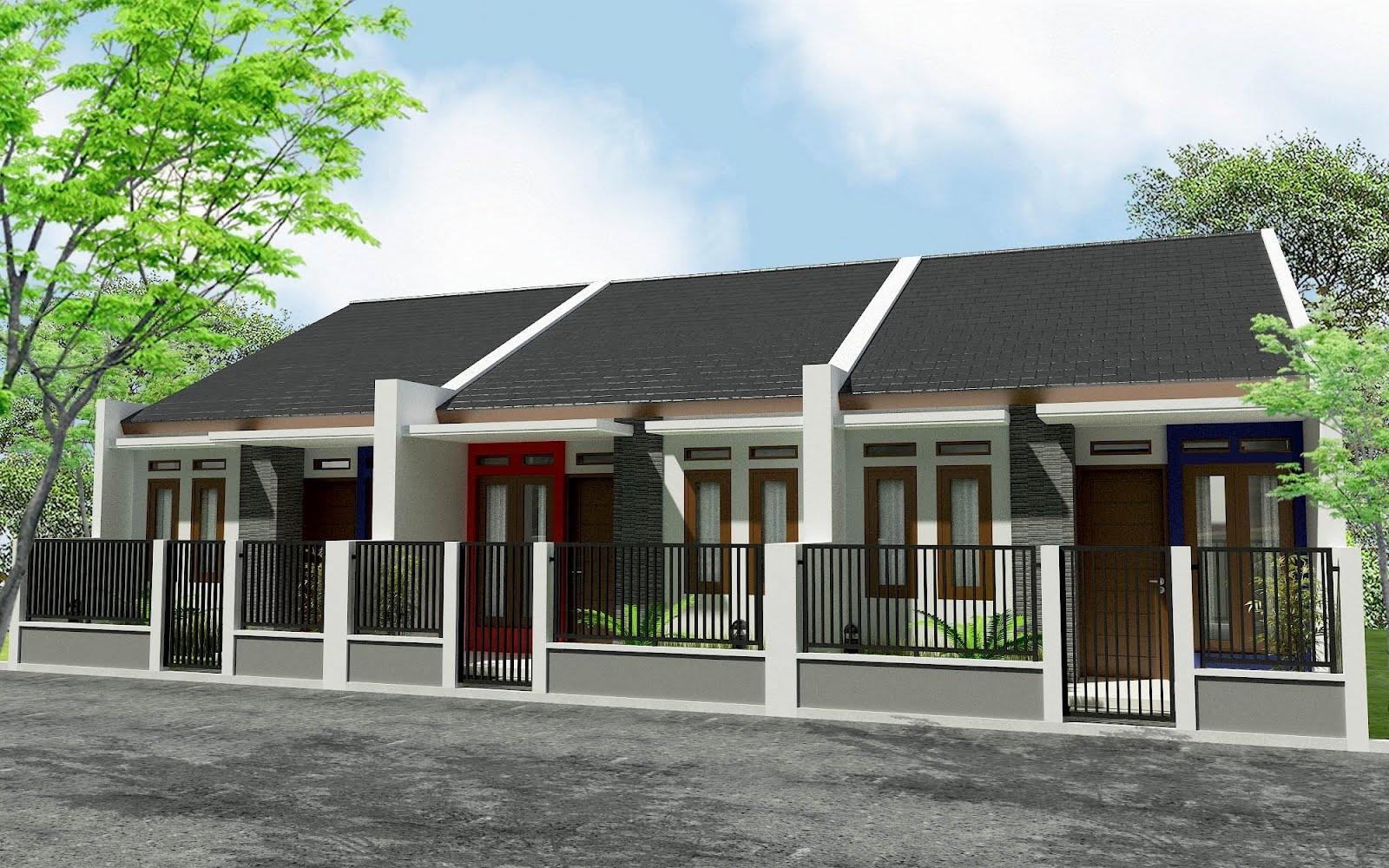 Desain Rumah Kontrakan 3 Pintu