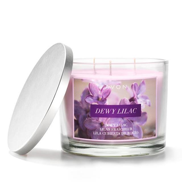 Dewy Lilac Candle   Avon