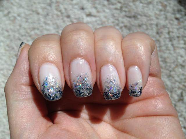 Glitter. Gradient. Graduation Nail Art