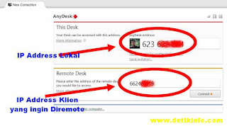 isian kolom address anydesk remote