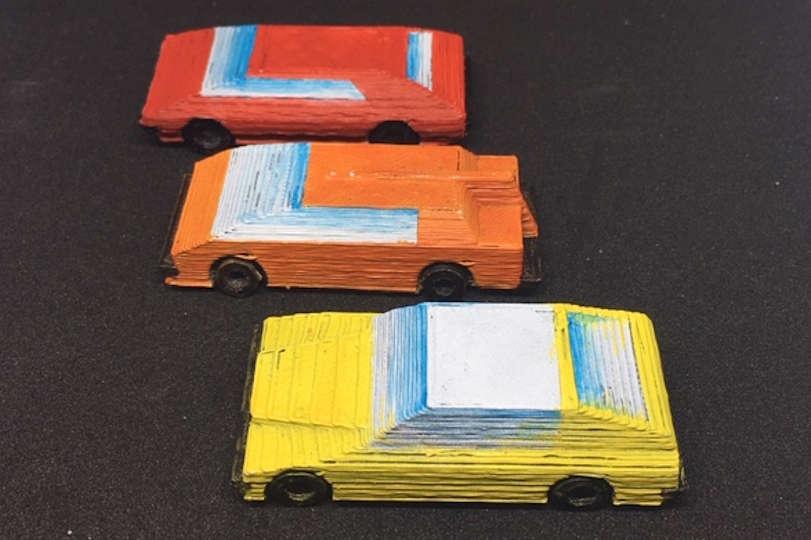 Car Wars Cars Painted