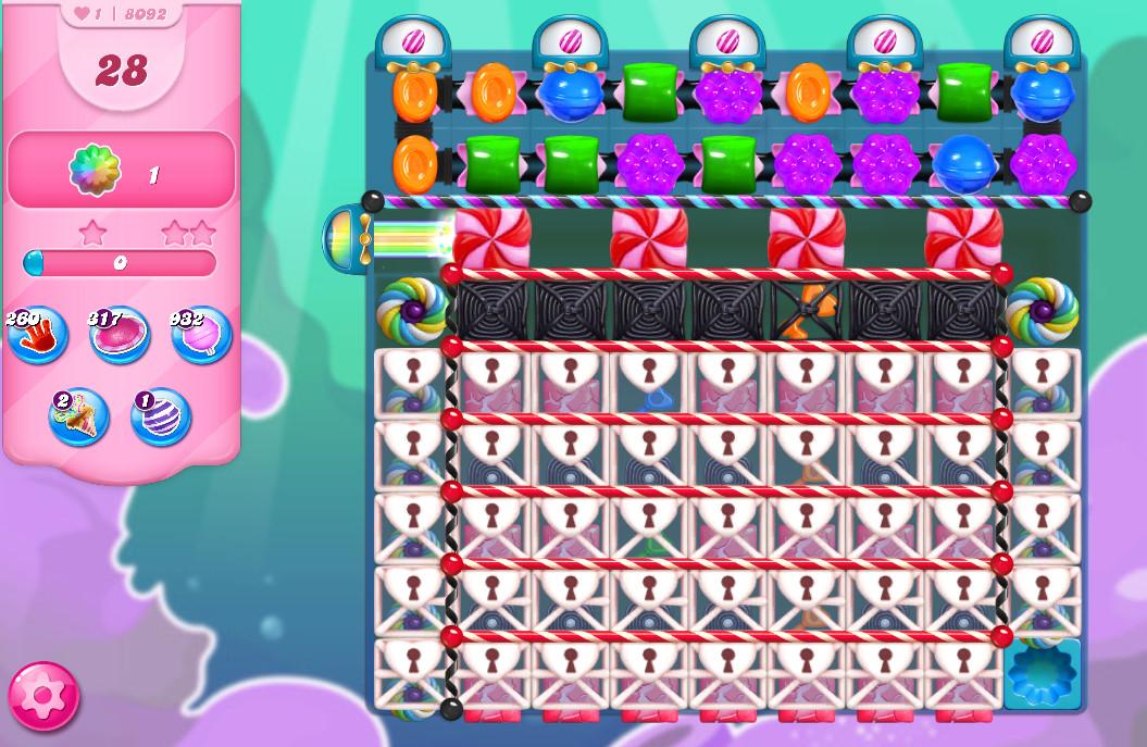 Candy Crush Saga level 8092