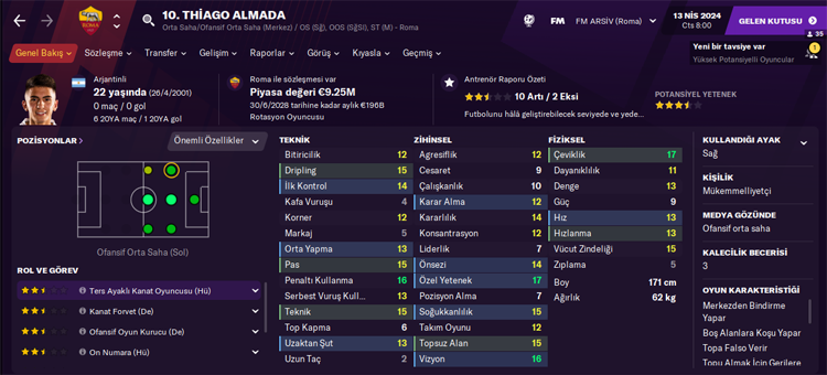 Thiago Almada fm profile