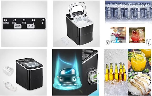 1. AGLUCKY Ice Maker Machine for Countertop - Features :
