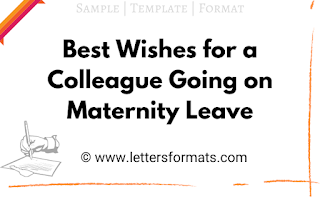 best wishes to employee going on maternity leave