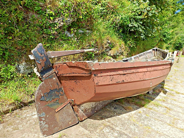 18th Century boat, Charlestown, Cornwall