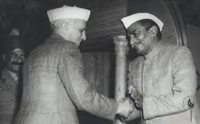 Dr. Rajendra Prasad and Pandit Jawaharlal Nehru.